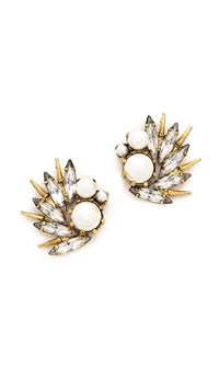 Elizabeth Cole Eyelet Earrings