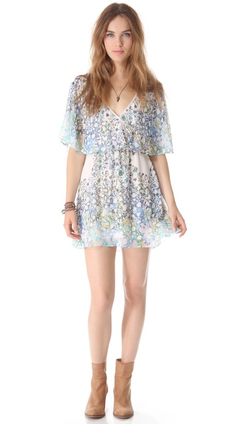 Free People Sparks Fly Cape Dress