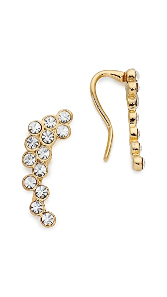 Rebecca Minkoff Crystal Ear Crawlers - Gold/Clear