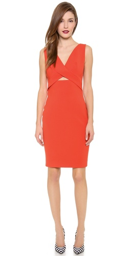 Robert Rodriguez Tech Suiting Cutout Dress