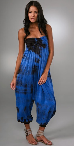 Martha Rey Tie Dye Jumpsuit Cover Up
