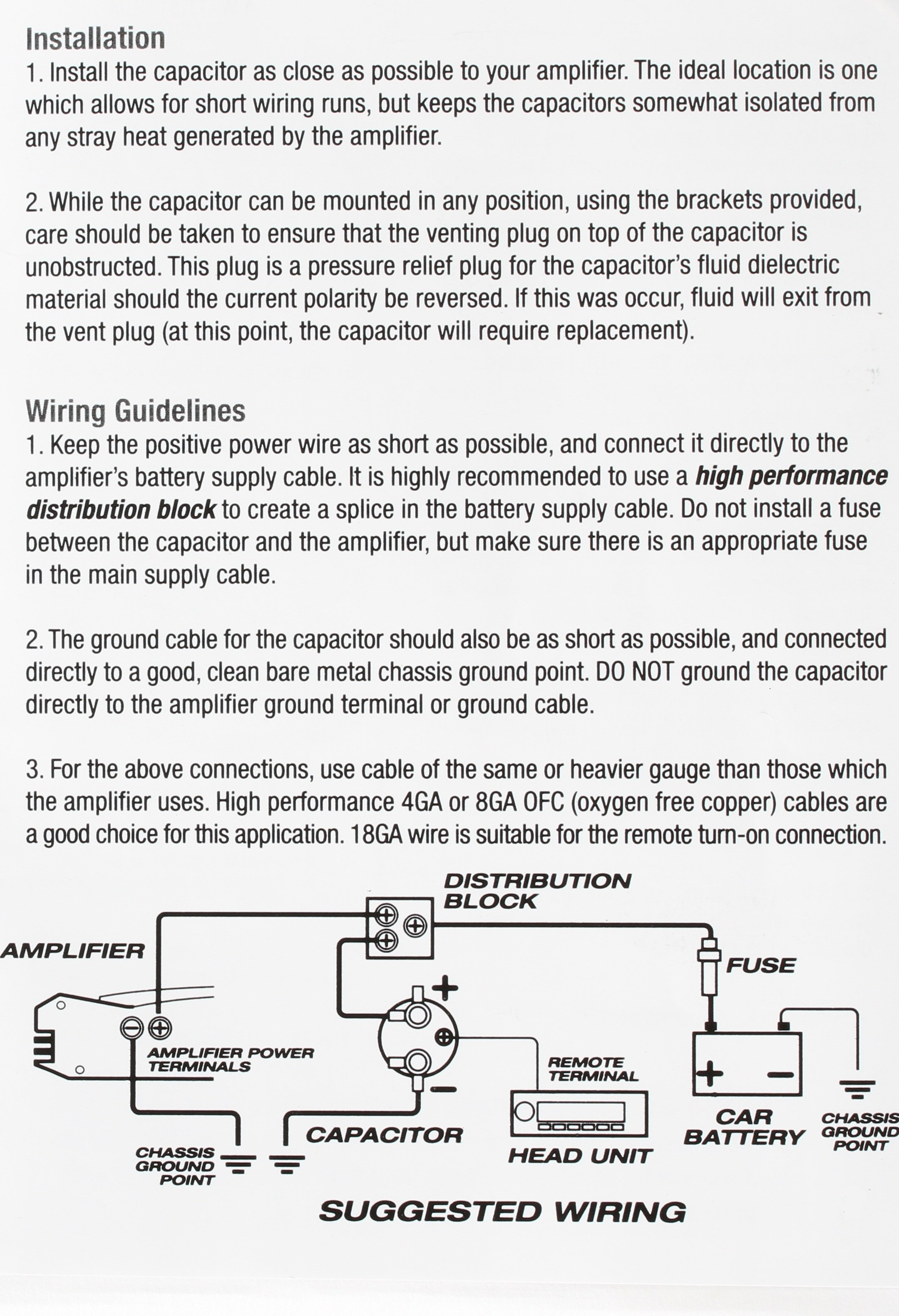 wiring diagram for capacitor of crossing over during scosche 500k micro farad diagrams get free image