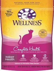Wellness Dry Cat Food For Adult Cats Indoor Health Recipe