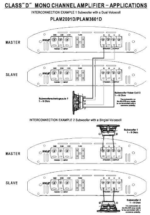 series speaker crossover wiring diagram 99 jeep cherokee amazon.com: pyle plam3601d class d monoblock power amplifier: car electronics