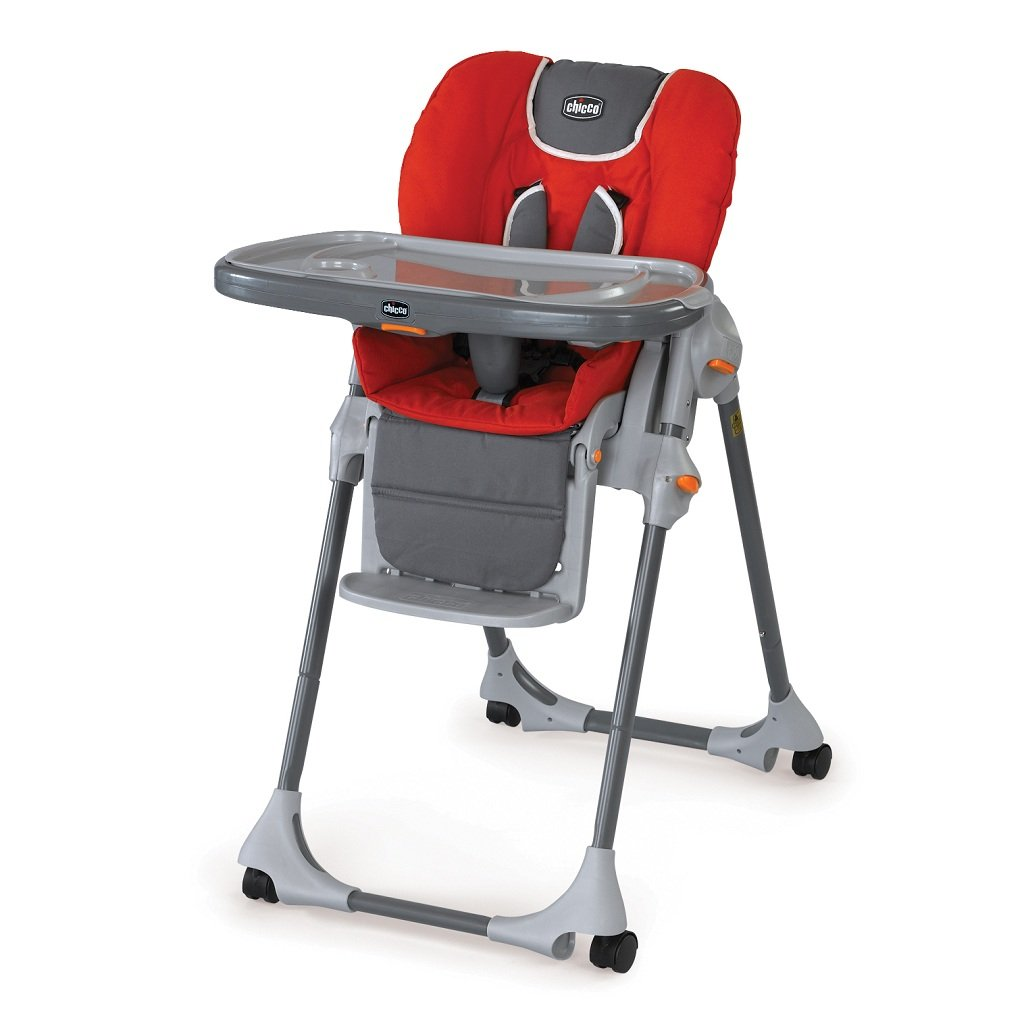 Red High Chair Amazon Chicco Polly Double Pad Fabric Highchair