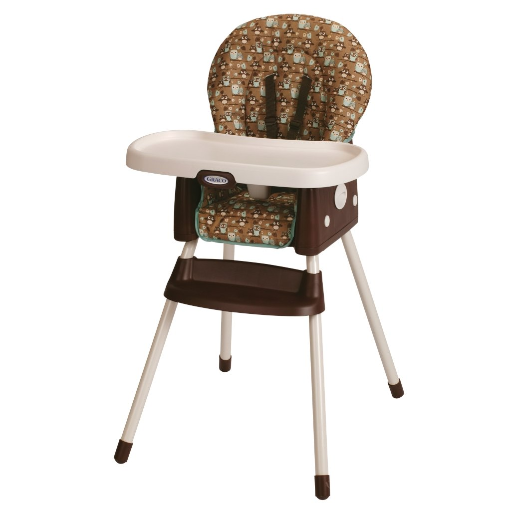Baby High Chair Graco Little Hoot Owl Simple Switch Booster Seat Deluxe
