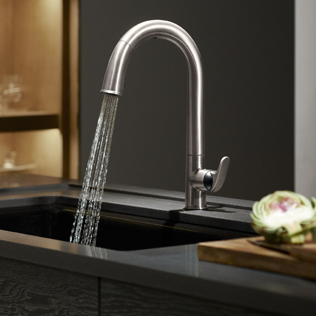 kohler kitchen sink faucets cart home depot k 72218 vs sensate touchless faucet