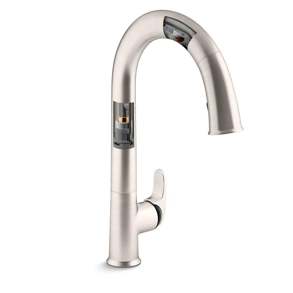 amazon kitchen faucets white porcelain undermount sink kohler k 72218 cp sensate touchless faucet