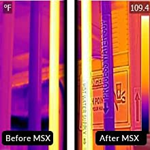 MSX helps sharpen thermal images