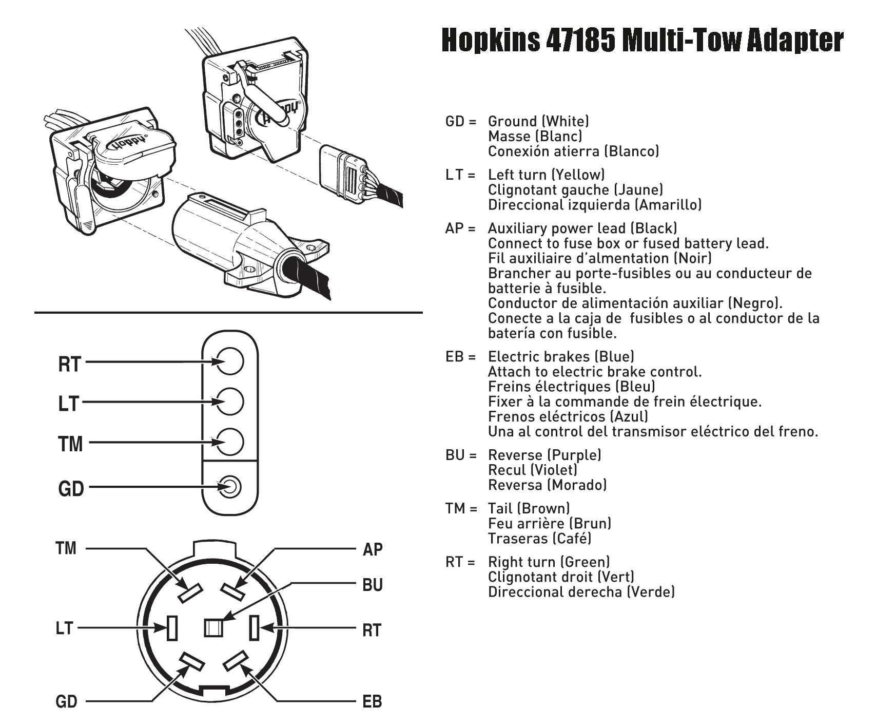 hopkins wiring diagram itil process visio amazon 47185 multi tow adapter automotive