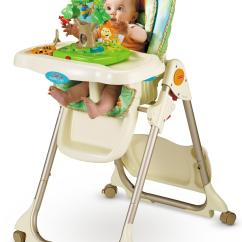 Fisher Price Rainforest Healthy Care High Chair 2 Dining Room Fabric Amazon