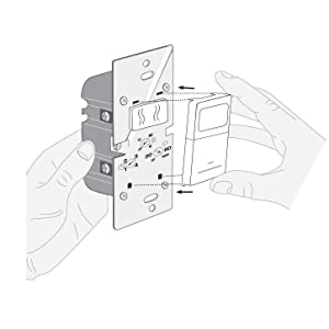 Leviton IPHS5-1LW Humidity Sensor and Fan Control, Single