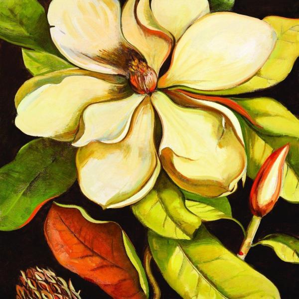 Portfolio Canvas Decor Framed And Stretched Ready Hang Blossom Magnolia