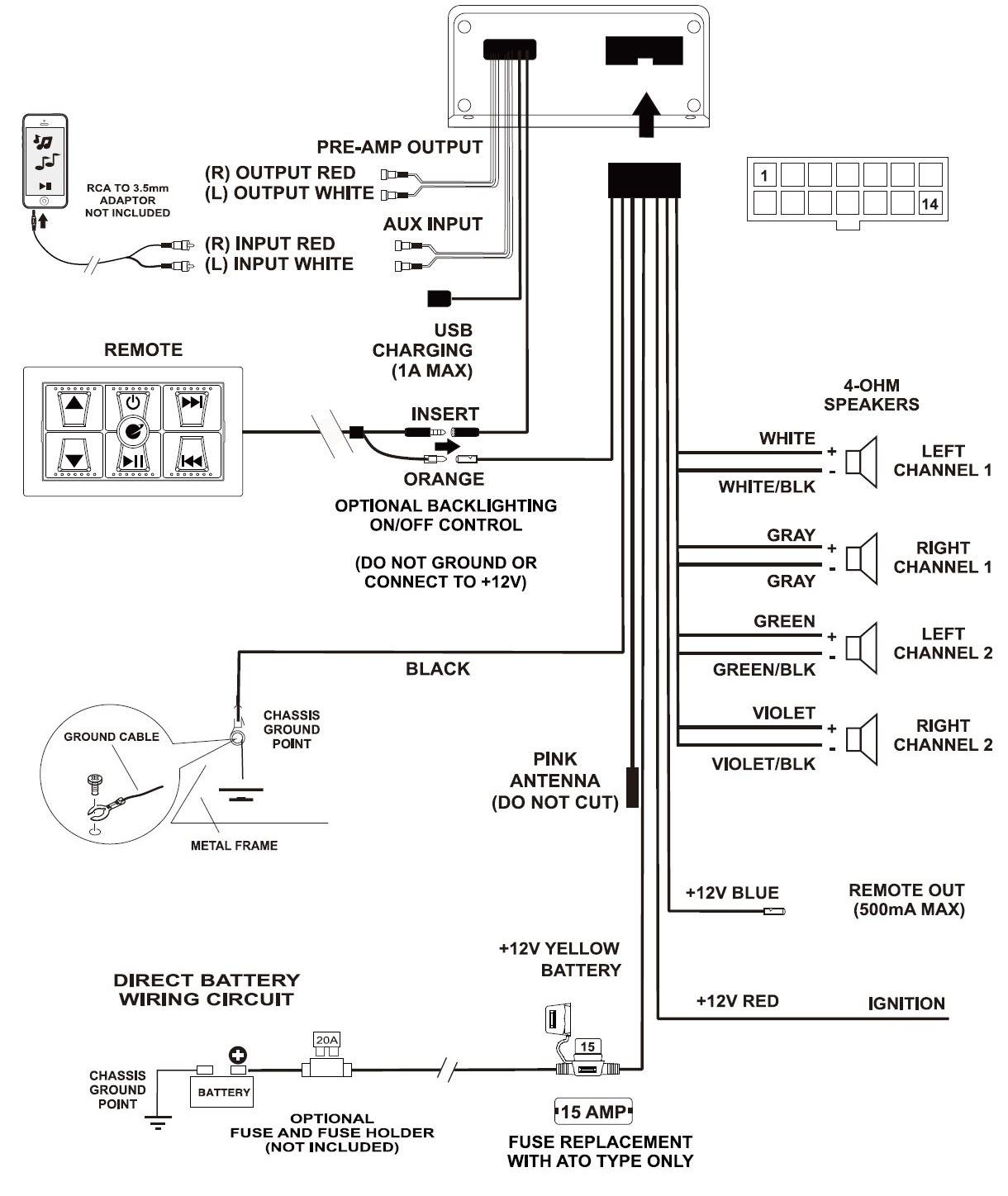 4 channel amp wiring diagram for gooseneck trailer amazon planet audio psa4cb bluetooth enabled all