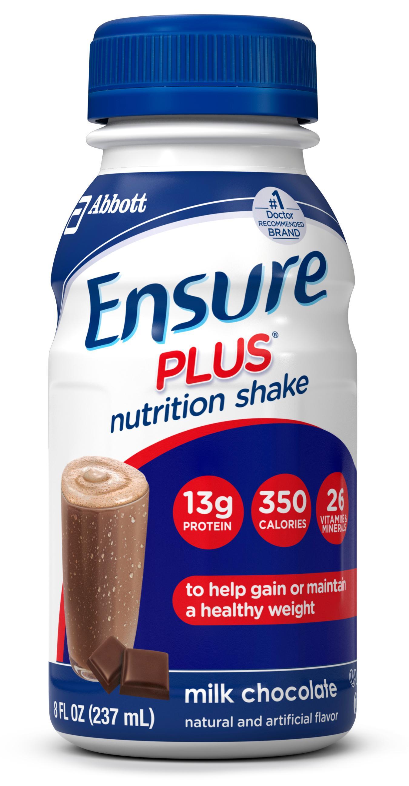 Amazon.com: Ensure Plus Nutrition Shake Milk Chocolate 8 ...