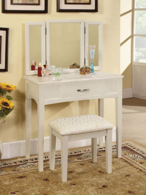 Enitial Lab Doris 2-piece Vanity And Stool Set White