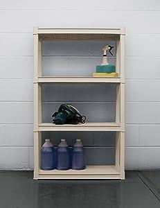 Sterilite 01428501 4Shelf Utility Cabinet