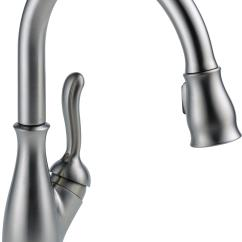 Kitchen Sink And Faucet Natural Maple Cabinets Delta 9178 Rb Dst Leland Single Handle Pull Down