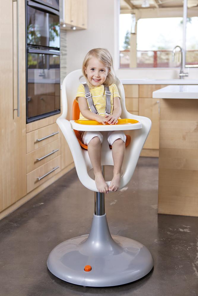ingenuity high chair 3 in 1 manual intex float amazon.com : boon flair pedestal highchair with pneumatic lift, white/orang childrens ...