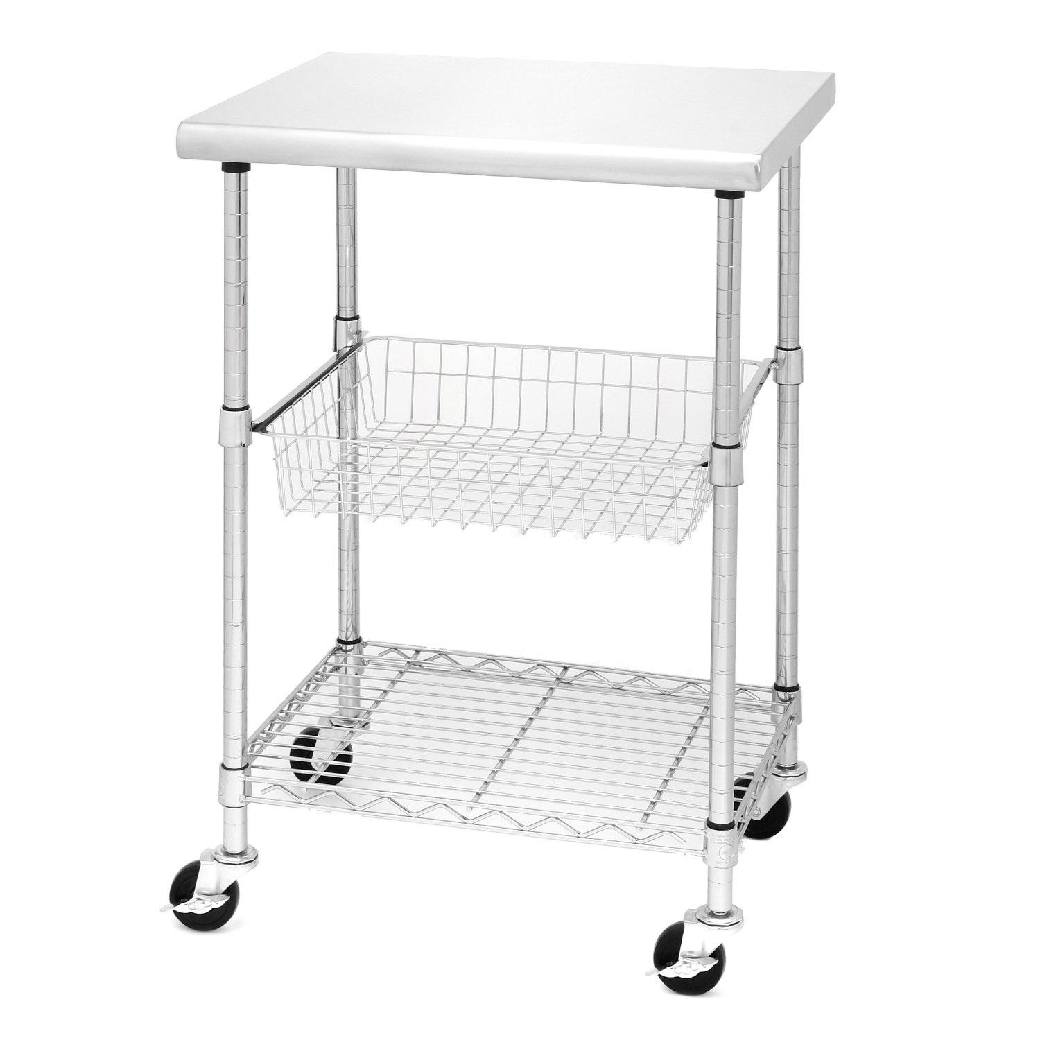 stainless steel kitchen cart distressed tables seville classics professional