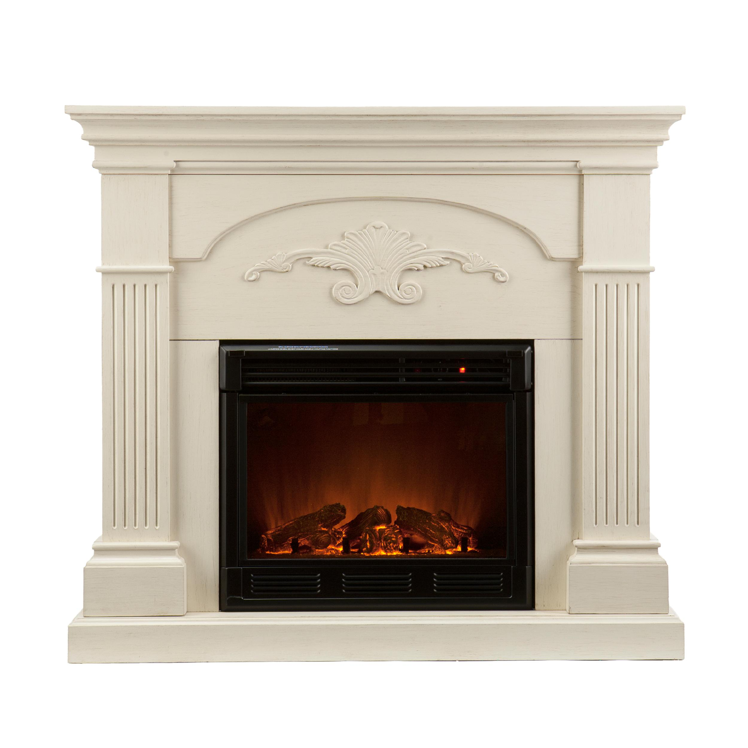 Amazoncom  Southern Enterprises Sicilian Harvest Ivory Electric Fireplace  Gel Fuel Fireplaces