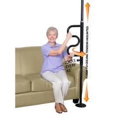 Sit Stand Chair Amazon Library Lounge Chairs Amazon.com: Stander Security Pole And Curve Grab Bar - Tension Mounted Floor To Ceiling Transfer ...