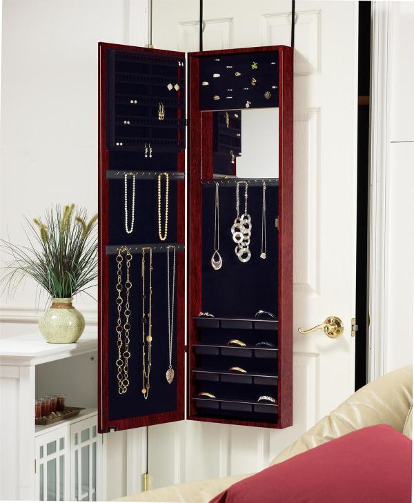 Over the Door Jewelry Armoire Mirror