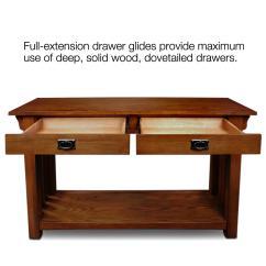Oak Mission Sofa Table Macys Leather Warranty Hall Console