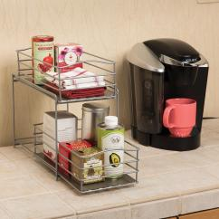 Kitchen Sliding Baskets Best Tile For Floor Amazon Seville Classics 2 Tier Basket