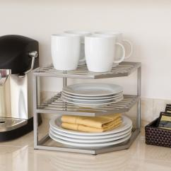 Two Tier Kitchen Drawer Organizer Appliance Package Amazon Seville Classics 2 Corner Shelf Counter