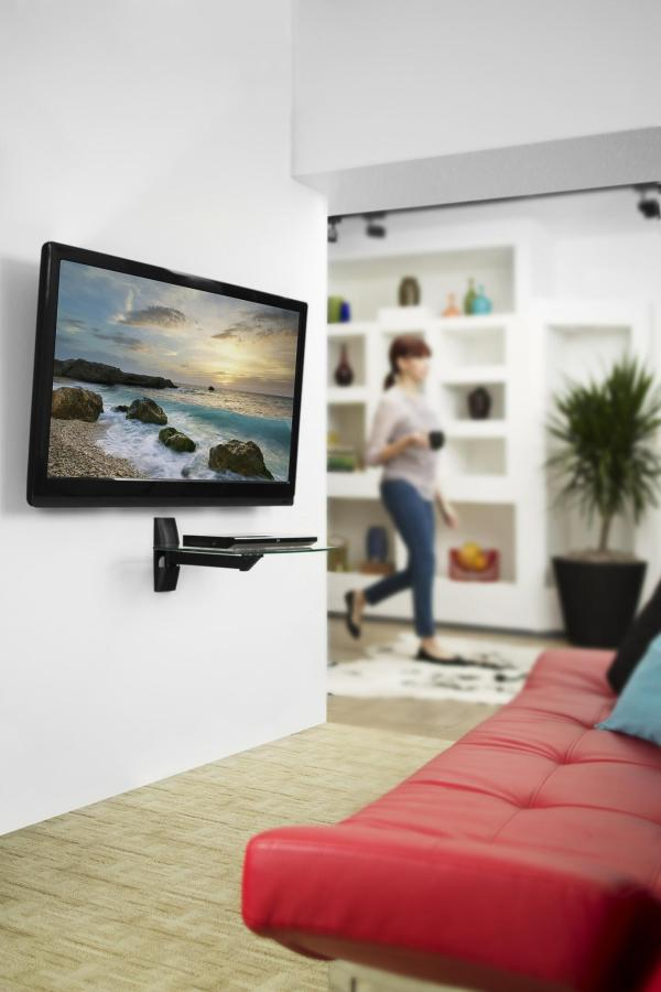 Home Theater Component Wall Shelf