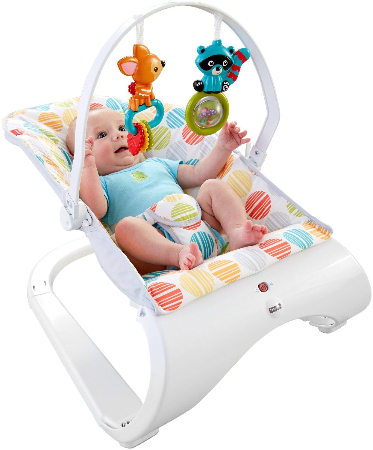 baby chair that vibrates office quotation comfy seat overhead toys fisher price comfort curve