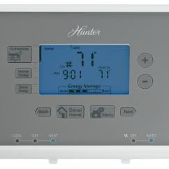 Programmable Thermostat Wiring Diagram 2 Ohm Dual Voice Coil Sub Hunter 44377 7 Day Digital Home