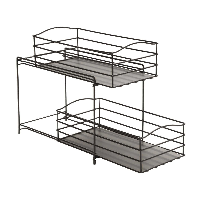 two tier kitchen drawer organizer pendulum lights for amazon seville classics 2 sliding basket