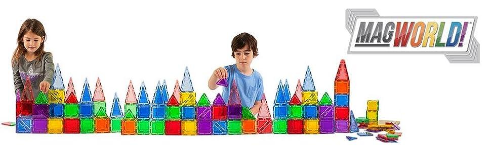 MagWorld 3D Magnetic Building Tiles