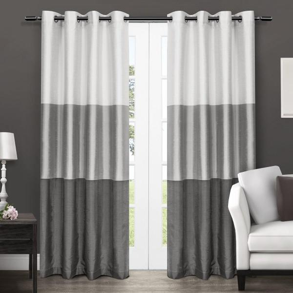 Exclusive Home Chateau Striped Faux Silk