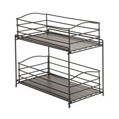Two Tier Kitchen Drawer Organizer Mixer Amazon Seville Classics 2 Sliding Basket