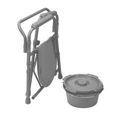Senior Citizen Potty Chair Cool Office Folding Steel Bedside Commode Toilet Seat
