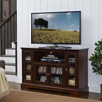 Amazon.com - WE Furniture Highboy Wood TV Stand, 52-Inch ...