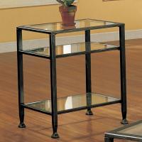 Amazon.com - SEI Bunching Metal End Table - Glass Side Table