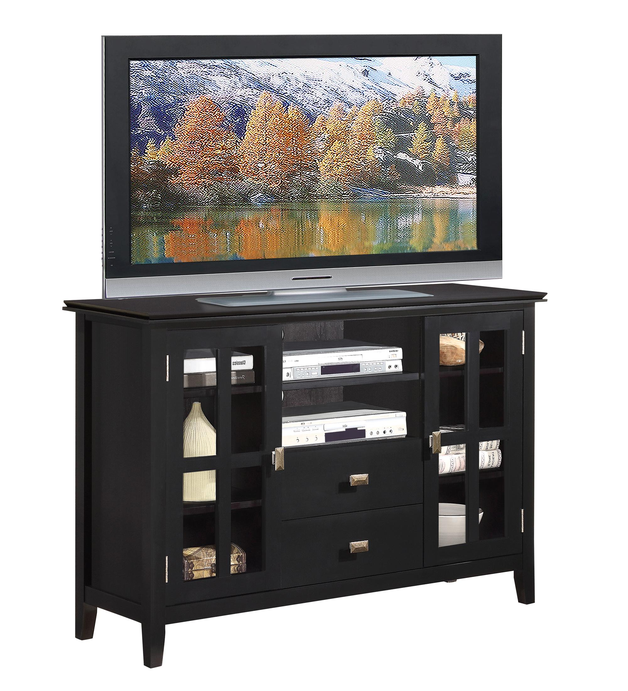 Amazoncom  Simpli Home AXCHOL005BL Artisan Collection Tall TV Stand 53Inch Wide by 35Inch