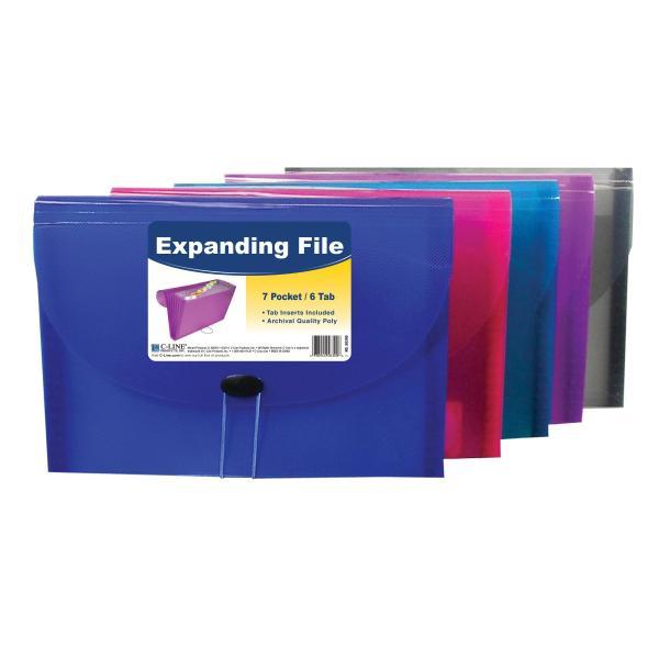 Line 13-pocket Expanding File Coupon Size Includes Tabs 1 Plaid Design