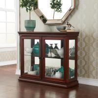 Amazon.com - SEI Mahogany Curio Cabinet with Double ...