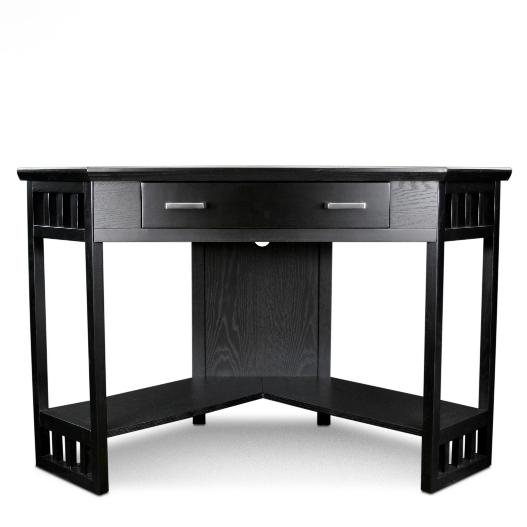 Amazoncom Leick Corner Computer and Writing Desk Black