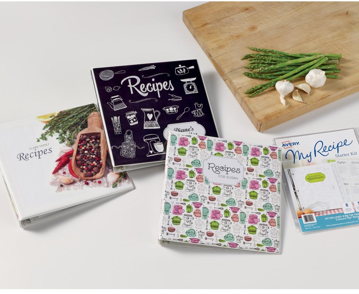 avery my recipe binders personalize and organize your recipes if it s