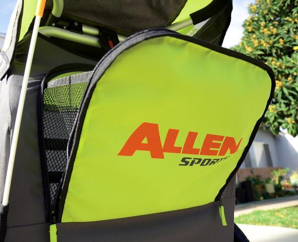 Allen Sports Premier 2-child Aluminum Bike Trailer Racing Stroller Green Grey