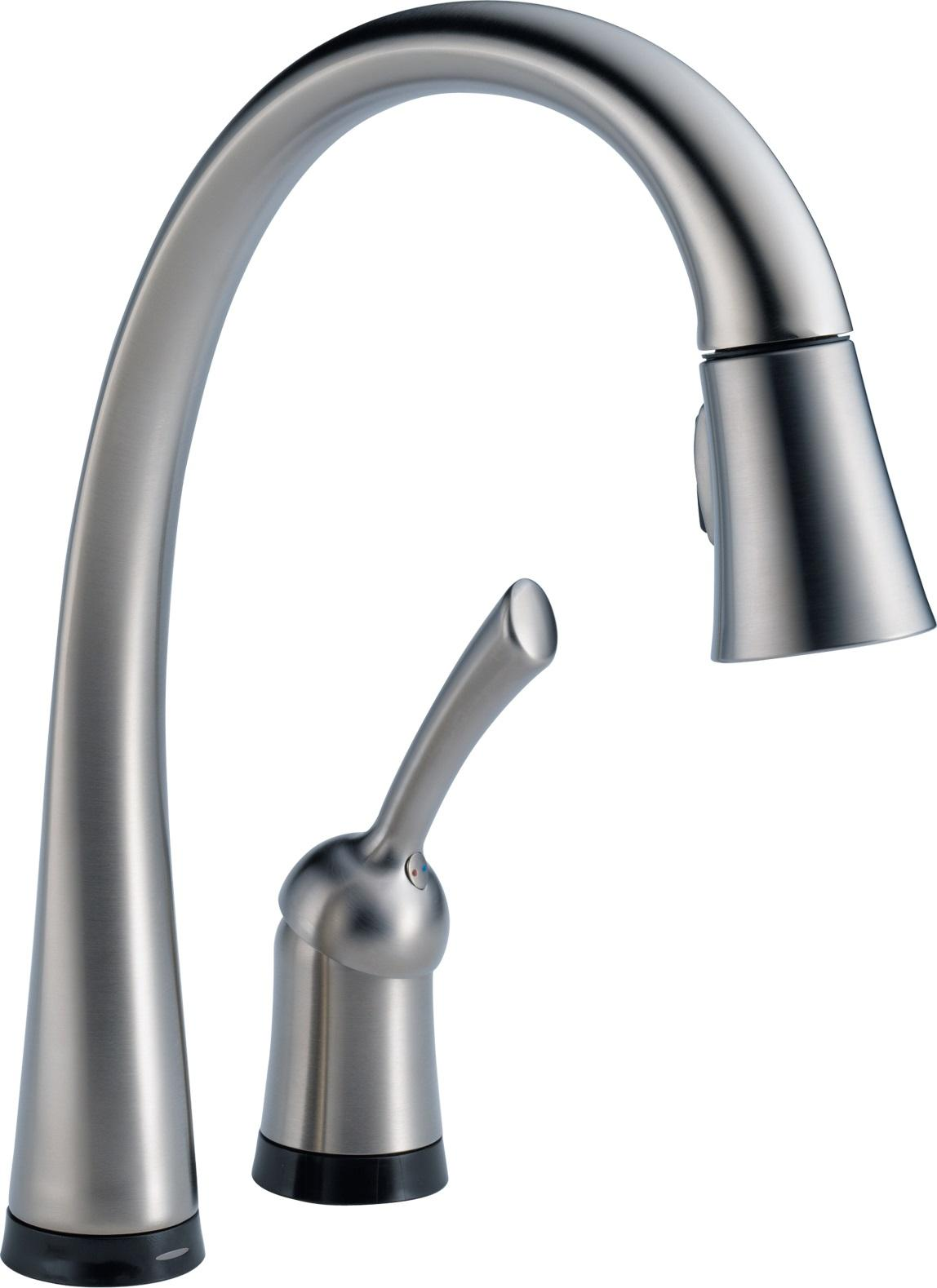 delta touch kitchen faucet cabinet hardware pulls 980t dst pilar single handle pull down