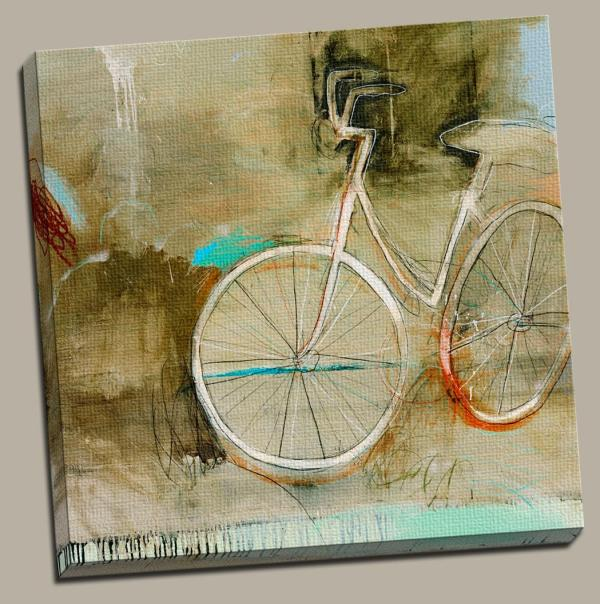 Abstract Canvas Wall Art Bike