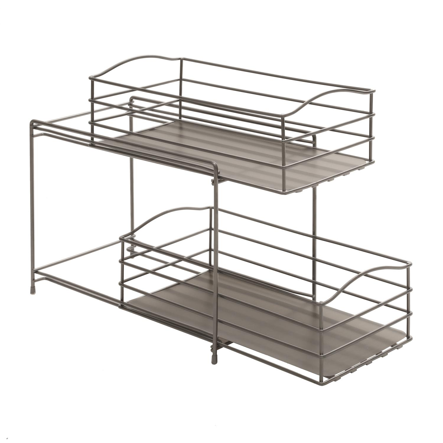 kitchen sliding baskets cabinet home depot amazon seville classics 2 tier basket