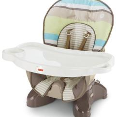 High Seat Chairs Chair Covers Kitchen Amazon Fisher Price Spacesaver Stripes